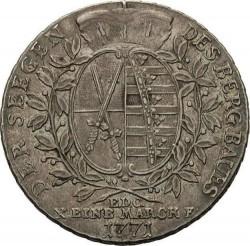 "Moneda > 1taler, 1769-1790 - Sajonia  (Inscripción: ""DER SEEGEN DES BERGBAUS"" en reverso) - reverse"