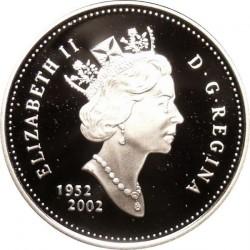 Монета > 5центів, 2002 - Канада  (50th Anniversary - Succession of Queen Elizabeth II) - obverse
