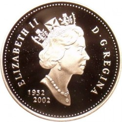 Coin > 10cents, 2002 - Canada  (50th Anniversary - Succession of Queen Elizabeth II) - obverse