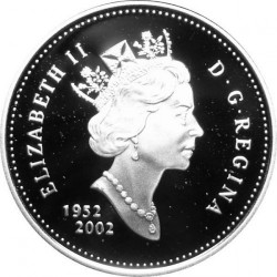 Munt > 25 cents, 2002 - Canada  (50th Anniversary - Succession of Queen Elizabeth II) - obverse