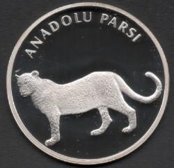 Moneta > 20naujojiliros, 2005 - Turkija  (Anatolian Leopard) - obverse