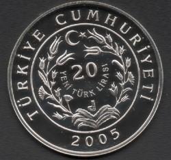 Coin > 20newlira, 2005 - Turkey  (Anatolian Leopard) - reverse