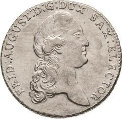 Moneta > 1tallero, 1769-1790 - Sassonia  (Solo testo di denominazione sul rovescio) - obverse