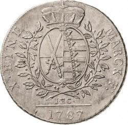 Moneta > 1tallero, 1769-1790 - Sassonia  (Solo testo di denominazione sul rovescio) - reverse