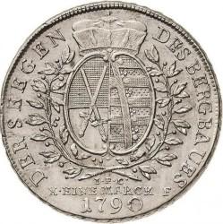 "Moneta > 1tallero, 1769-1790 - Sassonia  (Lettering: ""DER SEEGEN DES BERGBAUS"" sul rovescio) - reverse"