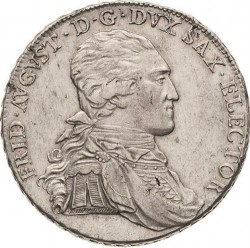 "Moneta > 1tallero, 1791-1793 - Sassonia  (Lettering: ""DER SEEGEN DES BERGBAUS"" sul rovescio) - obverse"