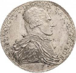 "Moneta > 1tallero, 1794-1806 - Sassonia  (Lettering: ""DER SEEGEN DES BERGBAVES"" sul rovescio) - obverse"