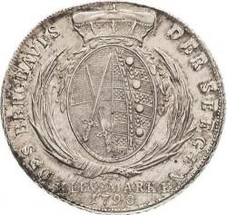 "Moneta > 1tallero, 1794-1806 - Sassonia  (Lettering: ""DER SEEGEN DES BERGBAVES"" sul rovescio) - reverse"