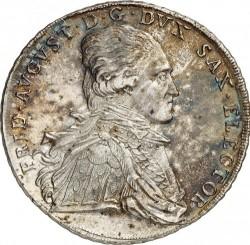 "Moneta > 1tallero, 1801 - Sassonia  (Lettering: ""DER SEEGEN DES BERGBAVES"" sul rovescio) - obverse"