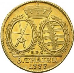 Moneda > 5taler, 1777-1785 - Sajonia  - reverse