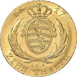 Moeda > 10Táler, 1806-1817 - Saxônia  - reverse