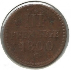 Moneta > 3pfennig, 1797-1806 - Sassonia  - obverse