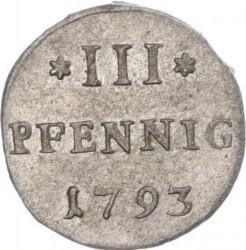 Moneta > 3pfennig, 1764-1793 - Sassonia  - reverse