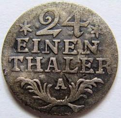 מטבע > 1/24טלר, 1785 - פרוסיה  - reverse