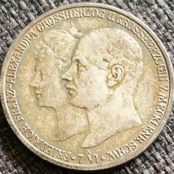 Moneda > 2marcos, 1904 - Alemán (Imperio)  (Boda del Duque Friedrich Franz IV) - obverse