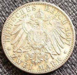 Moneda > 2marcos, 1907 - Alemán (Imperio)  (Muerte de Federico I) - reverse