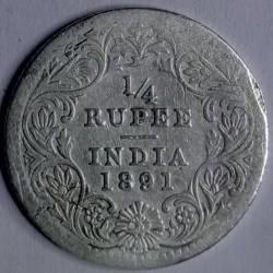 Pièce > ¼roupies, 1877-1901 - Inde - Britannique  - reverse