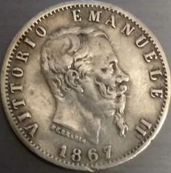 Moneda > 20centésimos, 1867 - Italia  - reverse