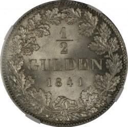Кованица > ½гулдена, 1838-1858 - Virtemberg  - reverse