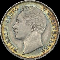Кованица > ½гулдена, 1858-1864 - Virtemberg  - obverse