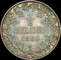 Кованица > ½гулдена, 1858-1864 - Virtemberg  - reverse