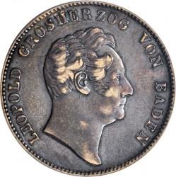 Munt > 2thaler, 1845-1852 - Baden  - obverse