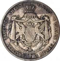 Munt > 2thaler, 1845-1852 - Baden  - reverse