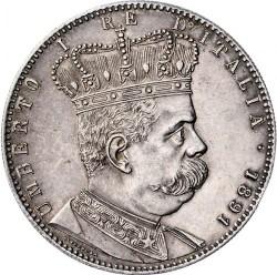 Moneta > 5lirów, 1891-1896 - Erytrea Włoska  - obverse