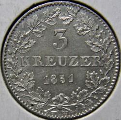 Moneta > 3krajcary, 1846-1856 - Frankfurt   - reverse