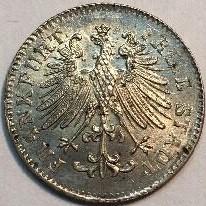 Moneta > 3kreuzer, 1846-1856 - Francoforte  - obverse