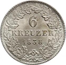 سکه > 6کرویزر, 1838-1846 - فرانکفورت  - reverse