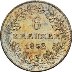 Moneda > 6kreuzer, 1846-1856 - Frankfurt  - reverse