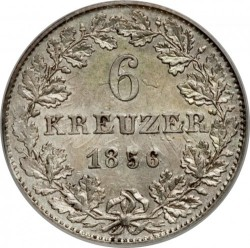 Moeda > 6kreuzer, 1846-1856 - Frankfurt  - reverse