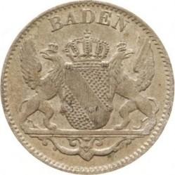 Moneda > 3kreuzer, 1841-1856 - Baden  - obverse
