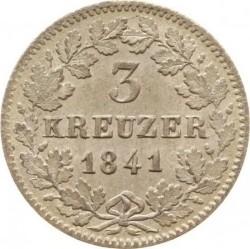 Moneda > 3kreuzer, 1841-1856 - Baden  - reverse