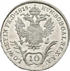 Монета > 10кройцера, 1815 - Австрия  - reverse