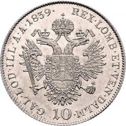 Монета > 10кройцера, 1837-1848 - Австрия  - reverse