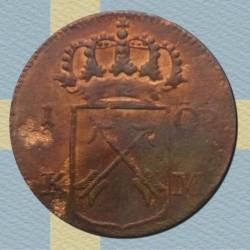 Moneda > 1ore, 1720-1750 - Suecia  - obverse