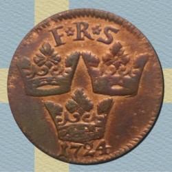 Moneda > 1ore, 1720-1750 - Suecia  - reverse