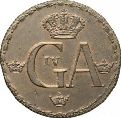 Moneta > ½skilingo, 1794 - Švedija  - obverse