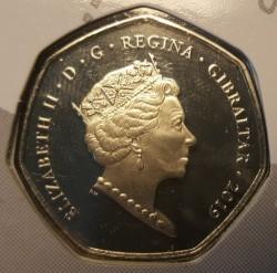 Moneta > 50pence, 2019 - Gibilterra  (75° anniversario - Sbarco in Normandia) - reverse