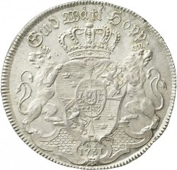Moneda > 1riksdaler, 1731 - Suecia  (Fredrik I and Ulrika Eleonora on obverse) - reverse