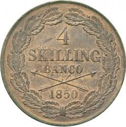 Монета > 4скилингбанко, 1849-1855 - Швеция  - reverse