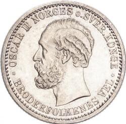 Moneda > 50öre, 1877-1904 - Noruega  - obverse