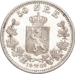 Moneda > 50öre, 1877-1904 - Noruega  - reverse