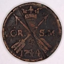 Moneta > 1erėSM, 1730-1750 - Švedija  - reverse