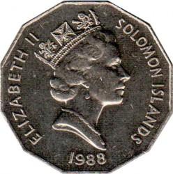 Moneda > 50cents, 1988 - Illes Salomó  (10è aniversari de l'Independència) - obverse