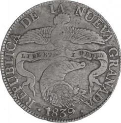 Pièce > 8reals, 1839-1846 - Colombie  - obverse