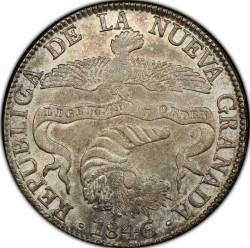 Монета > 8реалів, 1839-1846 - Колумбія  - obverse