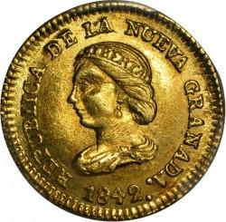 Münze > 1Peso, 1837-1846 - Kolumbien  - obverse